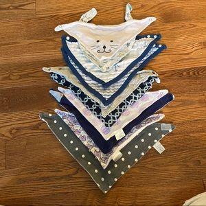 🛍3/$25 Lot of 10 bandana bibs